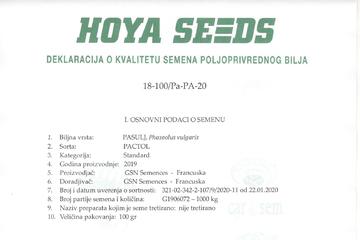 deklaracije o kvalitetu semena
