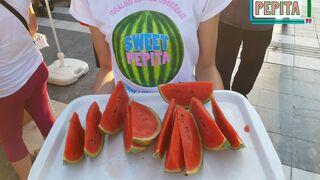 promotion of mini watermelon sweet pepita in soko banja